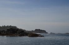 Sailing into Sgang Gwaay, Haida Gwaii